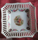 Vintage Bavaria Porcelain Open Motif DishCenter Couple