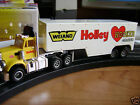 New SOLDOUT Autoworld Xtraction Yellow Semi HolleyTrailer HO Slot Car Fits AFX