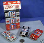 3 Vintage Original JAPAN POLICE FIRE AMBULANCE Tin Litho Emergency Car Toys