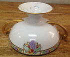 Noritake Nippon Compote Loving Cup Gold Leaf Lamona Mapes Grapes Handpainted