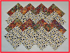 40 Bright Bloom Fabric Squares Quilt blocks Kit Sewing Quilting 4x4 block Cotton