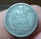 1874 Seated Liberty Dime - F/VF - No Reserve