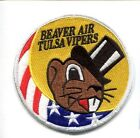 125th FS OK AIR GUARD BEAVER AIR USAF F-16 FALCON FIGHTER SQUADRON SWIRL PATCH