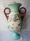 * Large Antique Hand Painted Porcelain URN Aesthetic Movement Hummingbird VASE