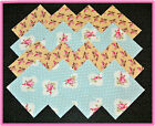 40 Shabby Garden Fabric Squares Quilt blocks Kit Sewing quilting 4x4