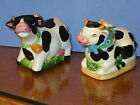 Cow  Bull Salt and Pepper Shakers Set Collectible Figures