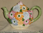 Golden Crown E&R Ceramic Whimsical 3D Flower Teapot Made in Italy - MINT