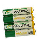 50 x AAA 3A 1350mAh LR03 Ni-MH 1.2V Rechargeable Battery Cell BTY Green