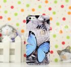 Fancy Butterfly Painted Design Hard Skin Back Cover Phone Case For iPhone 5 5S