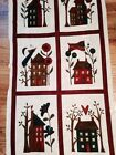 2Yds +Moda-HAPPY-HOLLOW-HOUSES-Panel-by-Sandy-Gervais- Cream &floral Fabric