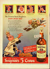 1942 Vintage ad for Seagram's 5 Crown~Blended Whiskey/Art/Halloween