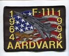 GENERAL DYNAMICS F-111 AARDVARK 30th ANNIVERSARY USAF FIGHTER SQUADRON PATCH