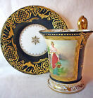 Antique French Sevres hand painted woman lady portrait - Samson