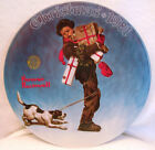 Knowles Norman Rockwell Christmas 1981 Wrapped Up In Christmas Decorative Plate