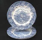 SALEM CHINA BLUE ENGLISH VILLAGE IRONSTONE OLDE STAFFORDSHIRE DINNER PLATES 3