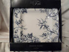 222 Fifth Adelaide Blue Set of 8 Dinner Plates NIB blue white floral and bird