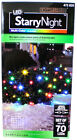 Gemmy LED Light Show Starry Night Multi Color 70 ct Net Light Flickering 472 820