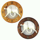 Jack Russell Terrier Wood Clock Wall Plaque Brown White