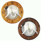 Jack Russell Terrier Wood Wall Clock Plaque Blk Wht