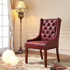 Royal Comfort Martis Dark Red Faux Leather Luxury Armchair