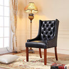 Royal Comfort Martis Black Faux Leather Luxury Armchair