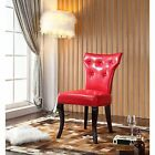 Royal Comfort Maori Red Faux Leather Luxury Dining Chair (Set of 2)