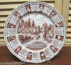 1978 Alfred Meak Staffordshire Calendar Zodiac Plate God Bless Our House