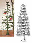 Die Cut MEMORY BOX Christmas Tree Evergreen MAGNIFICENT PINE