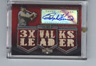 RALPH KINER AUTOGRAPH & 13-PIECE GAME-USED BAT CARD 4 18! HIS JERSEY NUMBER 4!