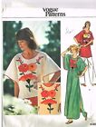 VOGUE PATTERN 1430 BOHO HIPPIE CAFTAN EMBROIDERY TRANSFERS 1970's