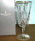 Waterford Lismore Tall Gold Iced Beverage Crystal Glass #6133182901 NEW In Box