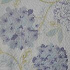 VIOLET BLUE PURPLE Floral Blossom CHIC SHABBY 3pc Full Queen Quilt Coverlet Set