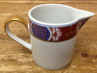 Nishiki Fitz & Floyd Blue Red Rust Geometric Gold Asian 1 Creamer Small Pitcher