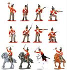 Napoleonic Toy Soldiers British Infantry PAINTED 12 Piece Set w Horses 1/32