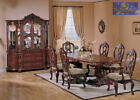 Luxury Formal Dining Table and Chairs Set Hand Carved Solid wood with veneer