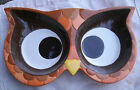 cute Owl Face Serving Dish,2 sections,ceramic,Mesa Home Products -colorful,bird
