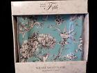 222 Fifth Adelaide Turquoise Toile French Country Bird Floral 4 Salad Plates NIB