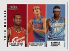 2003 Fleer Tradition LEBRON JAMES RC ROOKIE CARMELO ANTHONY VINCE CARTER GU AUTO