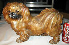 ANTIQUE HUBLEY TOY CO. USA CAST IRON PEKINGESE DOG ART STATUE SCULPTURE DOORSTOP