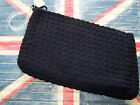 SALE 1940's WWII Cord Crocheted Navy Blue Clutch Purse with Lucite Handle