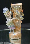 GERMAN BISQUE FIGURINE--SPILL VASE--GIRL W/ BIRD AND CHICKS--SO NICE--BUY IT NOW