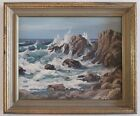 OLIVER BARRET (b.1903) VINTAGE EARLY CALIFORNIA PLEIN AIR SEASCAPE OIL PAINTING