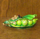 Kubla Crafts Jeweled Trinket Box KC3465 PEA POD w ANT new from our Retail Store