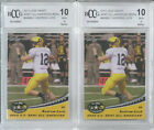 2 LOT 2012 LEAF ANDREW LUCK ROOKIE CARD BGS BCCG 10 MINT+ U.S. ARMY RC # AAB-AL1