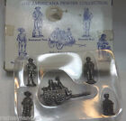 1995 The Americana Pewter Collection 5 Sm. Different Solid Pewter Figurines IOB