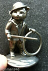 Sm. Signed OLIVER Persuasion Collection Pewter Cat w Cane , Hoop