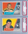 1963-64 TOPPS HOCKEY PARTIAL 42 % COMPLETE SET 28 66 ALL PSA GRADED RARE SET