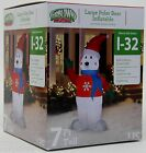 Christmas Gemmy 7 ft Large Polar Bear Airblown Inflatable Indoor Outdoor NIB