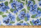 Blue Pansy Lovely Fabric by Yards RJR Quilting 100% Cotton Debbie Beaves Floral
