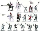 Toy Soldiers Templar Knights Playset 16 Painted Plastic Figures 4 Horses 1/32